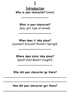 STORY WRITING - Basic Worksheets to teach children how to ...