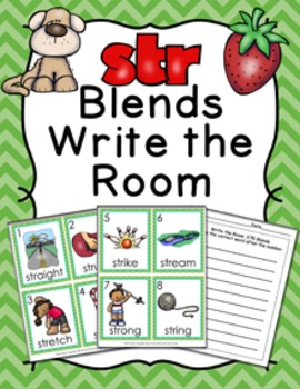 STR Blends Write the Room Activity