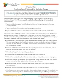 STR Practical Tip: Creating a Speech Notebook for Stuttering Therapy