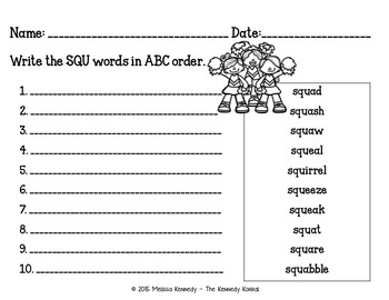 Word Work: Trigraphs - STR, SPL, THR