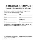 Episode 1 Analysis for STRANGER THINGS.