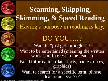 STRATEGY_Skim, Skip, Scan, and Speed Reading Skills Pt2