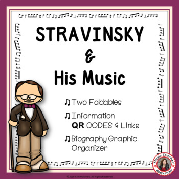 Music Listening: Composer STRAVINSKY: Interactive Listening Journal Foldables