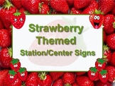 STRAWBERRY Themed Station/Center Signs - Great Classroom Management! BERRY CUTE!
