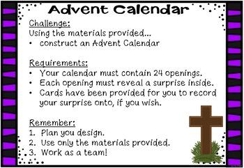 STREAM - STEM Meets Religion - 'Advent Calendar'