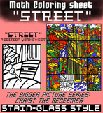 Math Colouring Worksheet (Addition) -Street