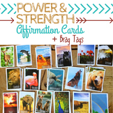 STRENGTH & POWER Positive Affirmation Cards & Brag Tags *S