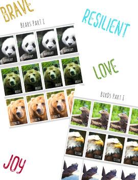 STRENGTH & POWER Positive Affirmation Cards & Brag Tags *Spirit Animal Inspired