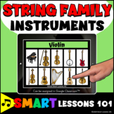 STRING FAMILY INSTRUMENT BOOM CARDS™ Music Distance Learni