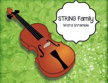 STRING Instruments Word Puzzle