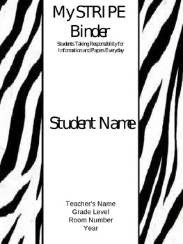 STRIPE Binder Covers (EDITABLE)