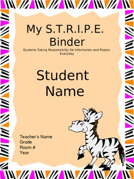 STRIPE Binder Covers (EDITABLE)