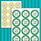 STRIPED Circle Labels Editable Classroom Folder Name Tags Avery 5294, RAINBOW