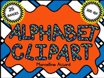 STRIPY ALPHABET CLIPART LETTERS (UPPERCASE)