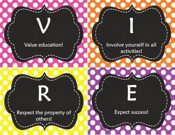 S.T.R.I.V.E. Class Rules & Behavior Consequences (Editable Templates)