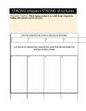 STRONG shapes = STRONG structures-- Students Interactive Journal Template