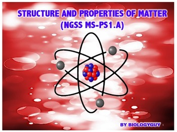 STRUCTURE AND PROPERTIES OF MATTER (NGSS MS-PS1.A), PowerPoint Presentation