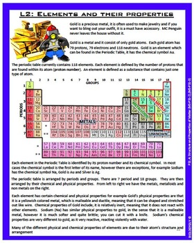 STRUCTURE AND PROPERTIES OF MATTER (NGSS MS-PS1.A), Activity Packet