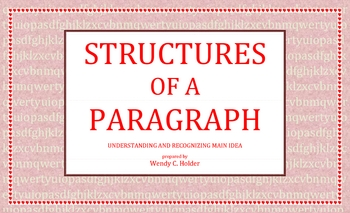 STRUCTURES OF A PARAGRAPH-16PG ACTIVITIES