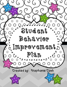 STUDENT BEHAVIOR INTERVENTION PACK PLANNING KIT POSITIVE I