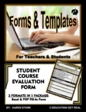 """STUDENT COURSE EVALUATION (Excel) - """"Let YOUR Students Eva"""