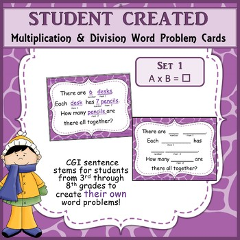 Student Created Multiplication and Division Cards - Set 1