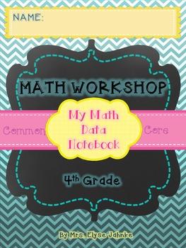 STUDENT DATA NOTEBOOK {4th Grade Math CCSS} *ALL 4th GRADE MATH STANDARDS*