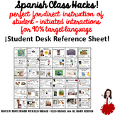 STUDENT DESK SPANISH SURVIVAL PHRASES FOR CI AND 90% TL