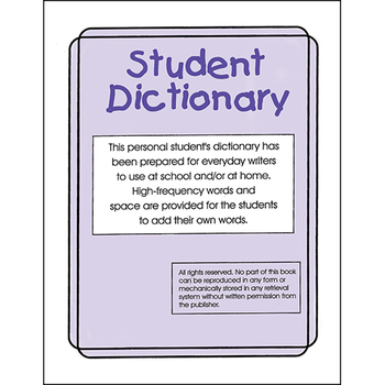 STUDENT DICTIONARY Gr. K-8