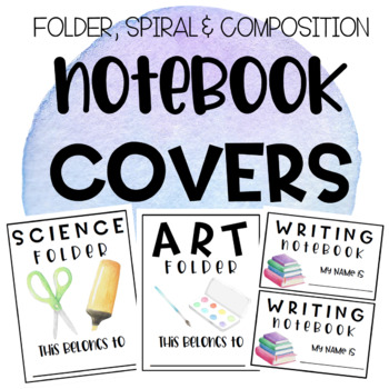 STUDENT FOLDER, COMPOSITION & SPIRAL NOTEBOOK COVERS!