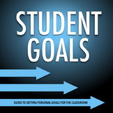 Back to School STUDENT GOALS: Template for Setting Academic or Personal Goals