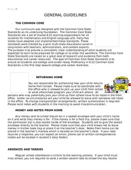STUDENT HANDBOOK- YOUNGER STUDENTS