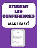 STUDENT LED CONFERENCES, Editable