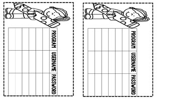 STUDENT LOG IN CARDS