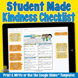 STUDENT MADE KINDNESS CHECKLISTS - Kindness Challenge Goog