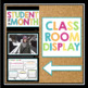 STUDENT OF THE MONTH: CLASSROOM BULLETIN DISPLAY