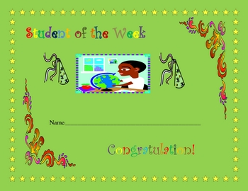 STUDENT OF THE WEEK POSTER FORM