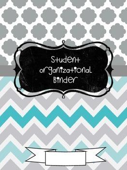 STUDENT ORGANIZATIONAL BINDER