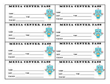 STUDENT PASSES - Set of Hall Pass Notes for Students