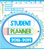 STUDENT PLANNER 2018-2019 - COLORFUL & EDITABLE! UPDATED E