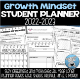 GROWTH MINDSET STUDENT PLANNER 2020-2021