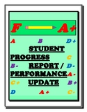 STUDENT PROGRESS REPORT /PERFORMANCE UPDATE /PREP FOR PARENT-TEACHER INTERVIEWS