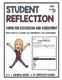 STUDENT REFLECTION: STUDENT LED CONFERENCE * BC CURRICULUM ALIGNED