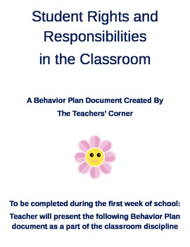 Student Rights and Responsibilities...Creating a Positive Learning Environment