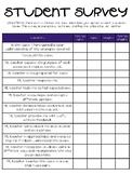 STUDENT SURVEY: Teaching & Learning Evaluation Survey
