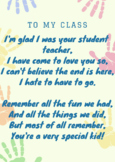 STUDENT TEACHER GOODBYE POEM