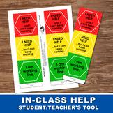 STUDENT- TEACHER HELP TOOL – Asking for help tool, Classro