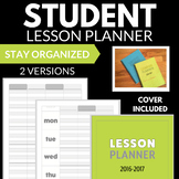 STUDENT TEACHER LESSON PLANNER WEEKLY 2 VERSIONS