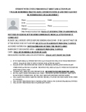 STUDENT WITH CYSTIC FIBROSIS FACT SHEET AND ACTION PLAN