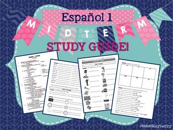 STUDY GUIDE - Spanish 1 Midterm Exam / Español 1 Exam de Mitad